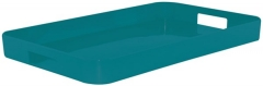 New Generation Gallery Tablett gross aqua blau 53.5x34.5 cm