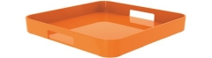 Gallery Tablett quadratisch orange 33x33 cm