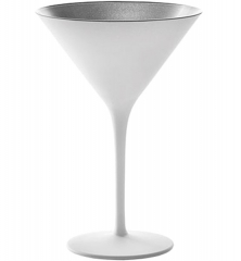 Olympic Cocktailschale 240ml weiss/silber