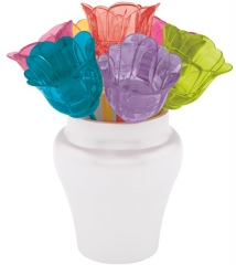 Picks Blumen rainbow 8tlg-Set 8cm