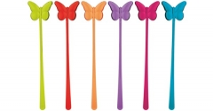 Picks Schmetterlinge rainbow 6tlg-Set 21,5cm