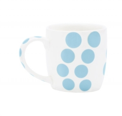 Dot Dot Porzellan Mug in GK, blau, 35 cl