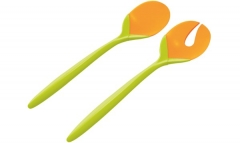 Duo Salatbesteck Tulpe kiwi/orange 28 cm