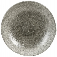 Raku Teller tief coupe 24.8cm, Quartz Black