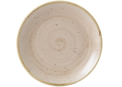Stonecast Nutmeg Beige Teller coupe flach 26cm