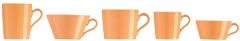 TRIC/orange Mokka-Untertasse/Ut Eierb 10cm