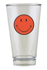 Smiley Becher, coral/weiss 30 cl