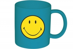 Smiley Klassik Tasse aqua blau 35 cl