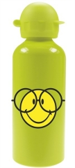 Smiley Flasche Emoticon grün, Aluminium, 60cl
