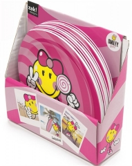 Smiley Kid Girl Teller pink 20 cm