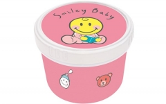 Smiley Baby pink Snack Box Ø8.5 cm