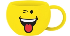 Smiley Kaffeetasse, Emoticon Zwinkern 20cl