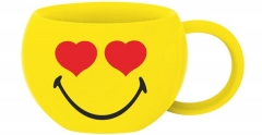 Smiley Espressotasse, Emoticon Love 10cl