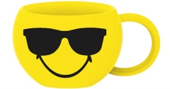 Smiley Espressotasse, Emoticon Cool/Sonnenbrille 10cl