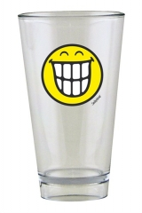 Smiley Glas, Emoticon breites Grinsen 30 cl