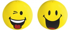 Smiley Salz-/Pfefferstreuer 2er-Set, Emoticon Zwinkern/Happy