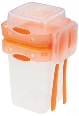 Lunchbox 2-tlg. mit Besteckset, orange, 250 ml / 650 ml