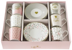 "Coffee Mania 6er Espr.-tasse m. Untert. GB, ""Love"", 100ml"