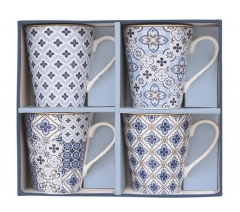 "Coffee Mania 4er Set Kaffebecher in GB,""Blau"",300ml"