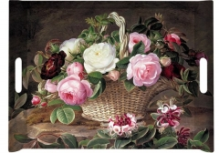 Old England Roses Tablett m. Griffen 52x37 cm