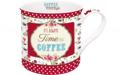 Time for Coffee Porzellanbecher 300 ml in GB, rot