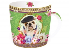 "Fancy Animals ""Bulldogge"" Porzellanbecher in GB, 350 ml"