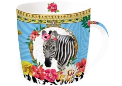 "Fancy Animals ""Zebra"" Porzellanbecher in GB, 350 ml"