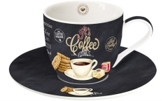 It's coffee time Cappuccino-Obere u. Untere, 250 ml, weiss