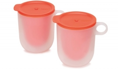 M-Cuisine MW cool-touch Becher 2-er Set, orange, 360 ml