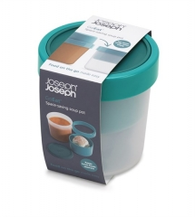 GoEat Compact 2-in-1 Suppen Dose, türkis, 11x11x12/17.4 cm