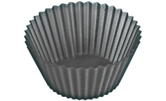 Backform 6er Set Muffin schwarz, Ø7x4 cm