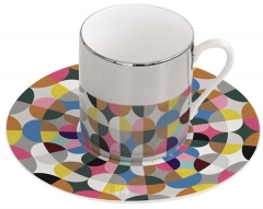 "Magic Cup Espressotasse m. Untere in GB, ""Confetti"", 120 ml"