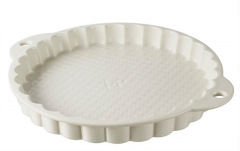 Wähenform in GB, Ø 30 cm, H: 3.5 cm, creme