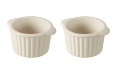 2er Set Ramequin in GB, Ø 8.5 cm, H: 5.5 cm, creme