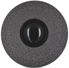 Sphere Teller 30 cl, H: 5 cm, Ø 30 cm, schwarz-Konstellation