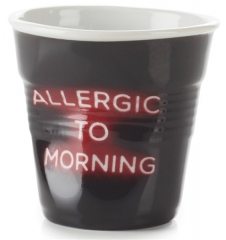"Espresso Knitterbecher 8 cl, Neon ""Allergic to Morning"""
