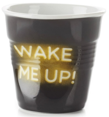 "Espresso Knitterbecher 8 cl, Neon ""Wake me Up"""