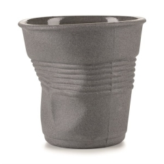 Espresso Knitterbecher, 8 cl,  grau matt