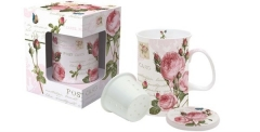 Romantic Roses Teetasse mit Siebeinsatz in GB, 300 ml