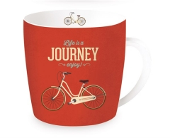 "Life is a Journey ""Fahrrad"" Porzellanbecher, 350 ml in GB"