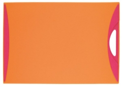 Kleon Schneidebrett orange/fuchsia 37x25.5cm