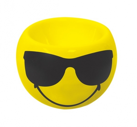 Smiley Eierbecher Emoticon Cool/Sonnenbri., Ø 6cm