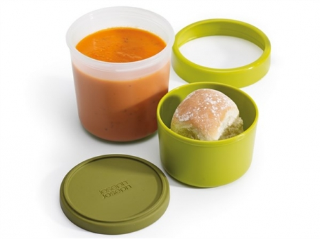 GoEat Compact 2-in-1 Suppen Dose, grün, 11x11x12/17.5 cm