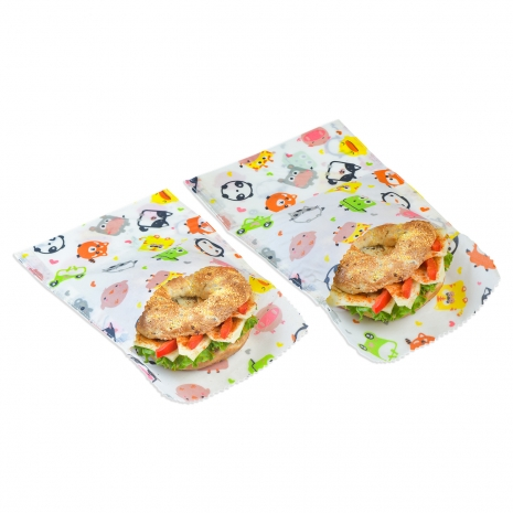 Bienenwachs Sandwich & Snack bag kids, 2er Set,18x18,18x23cm