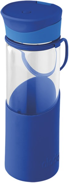 Enjoy Glasflasche, 0.5 l, blau