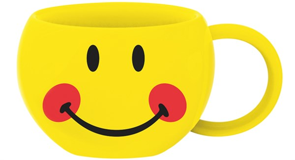 Smiley Teetasse, Emoticon Blush 30cl