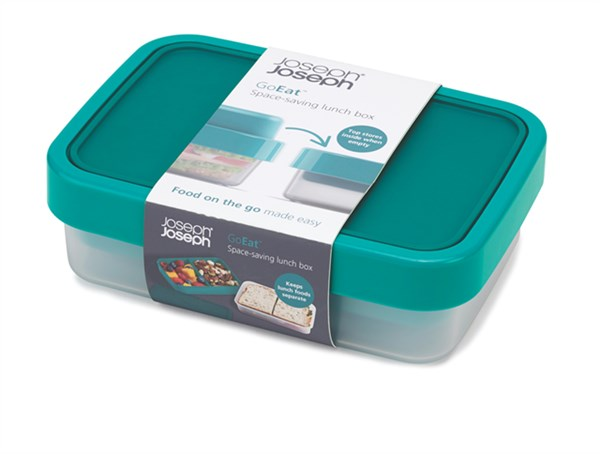GoEat Compact 2-in-1 Lunch Box, türkis, 19x13.5x6/8.5 cm